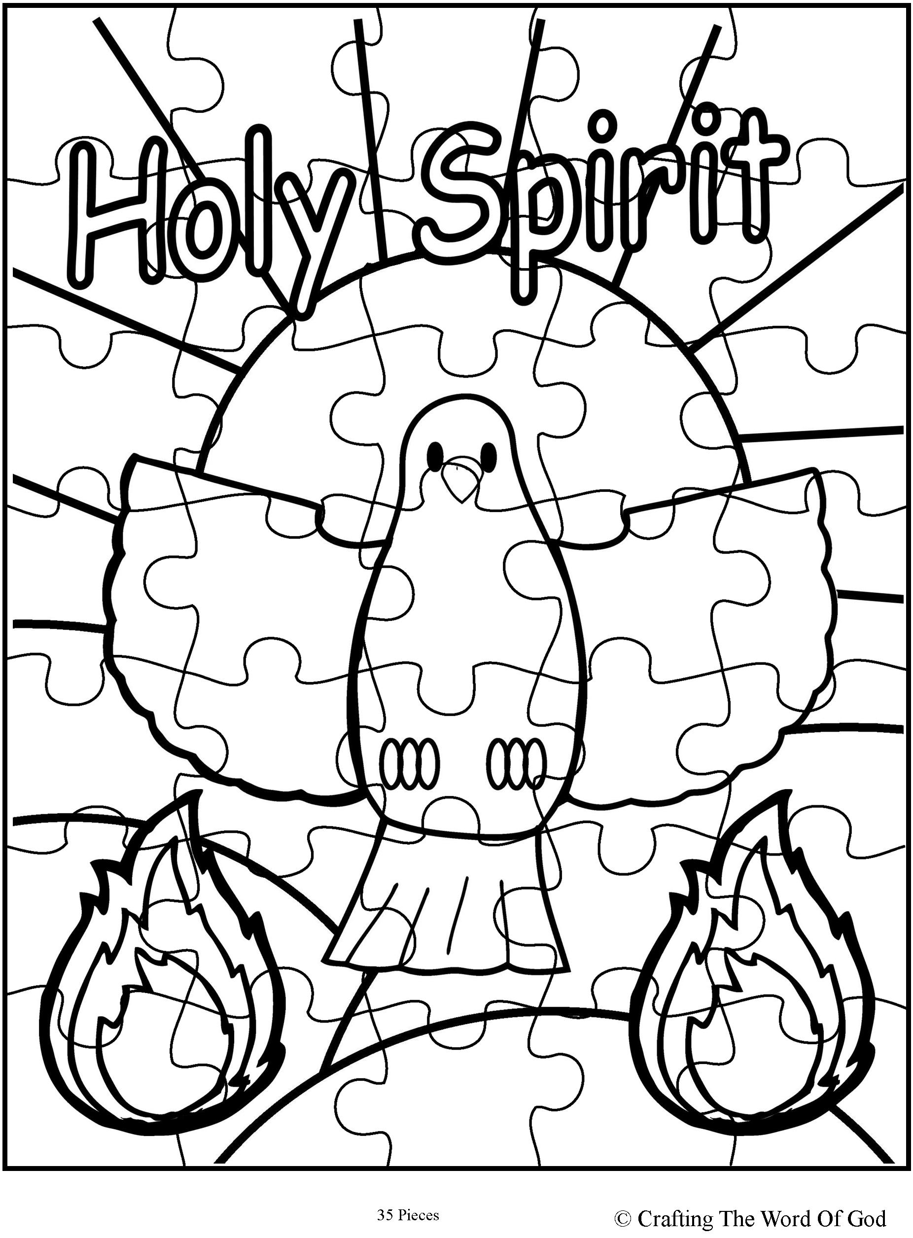 Holy Spirit Puzzle Activity Sheet Crafting The Word Of God