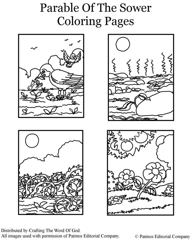 Parable Of The Sower- Coloring Page « Crafting The Word Of God