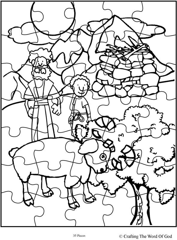 Abraham Offers Isaac Puzzle- Activity Sheet « Crafting The