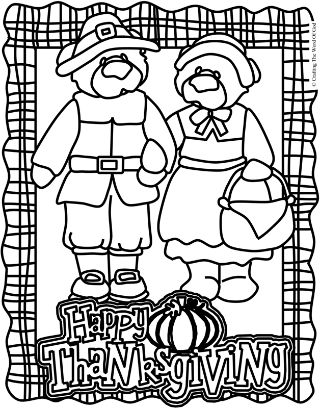 Thanksgiving Coloring Page 2- Coloring Page « Crafting The