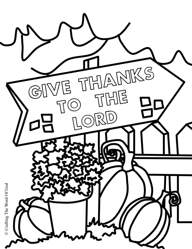 Thanksgiving Coloring Page 3- Coloring Page « Crafting The