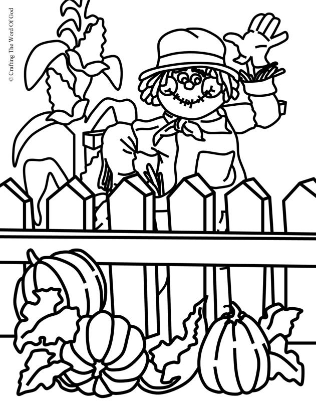 Thanksgiving Coloring Page 4- Coloring Page « Crafting The