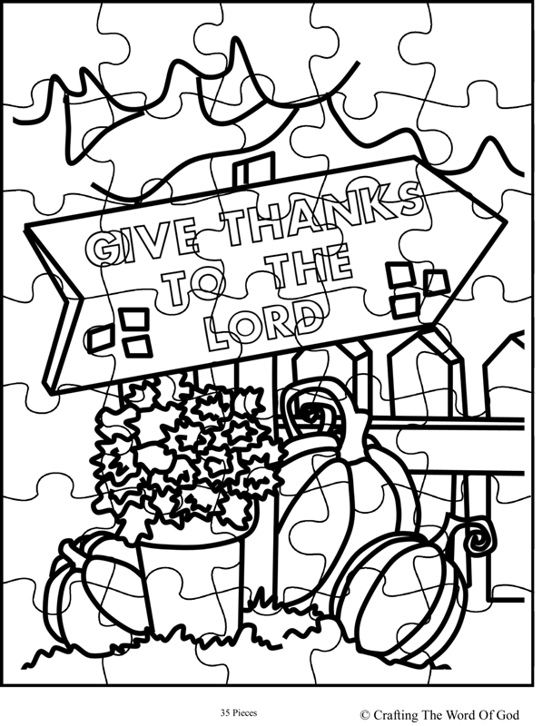 Thanksgiving Coloring Pages Sunday School Activity