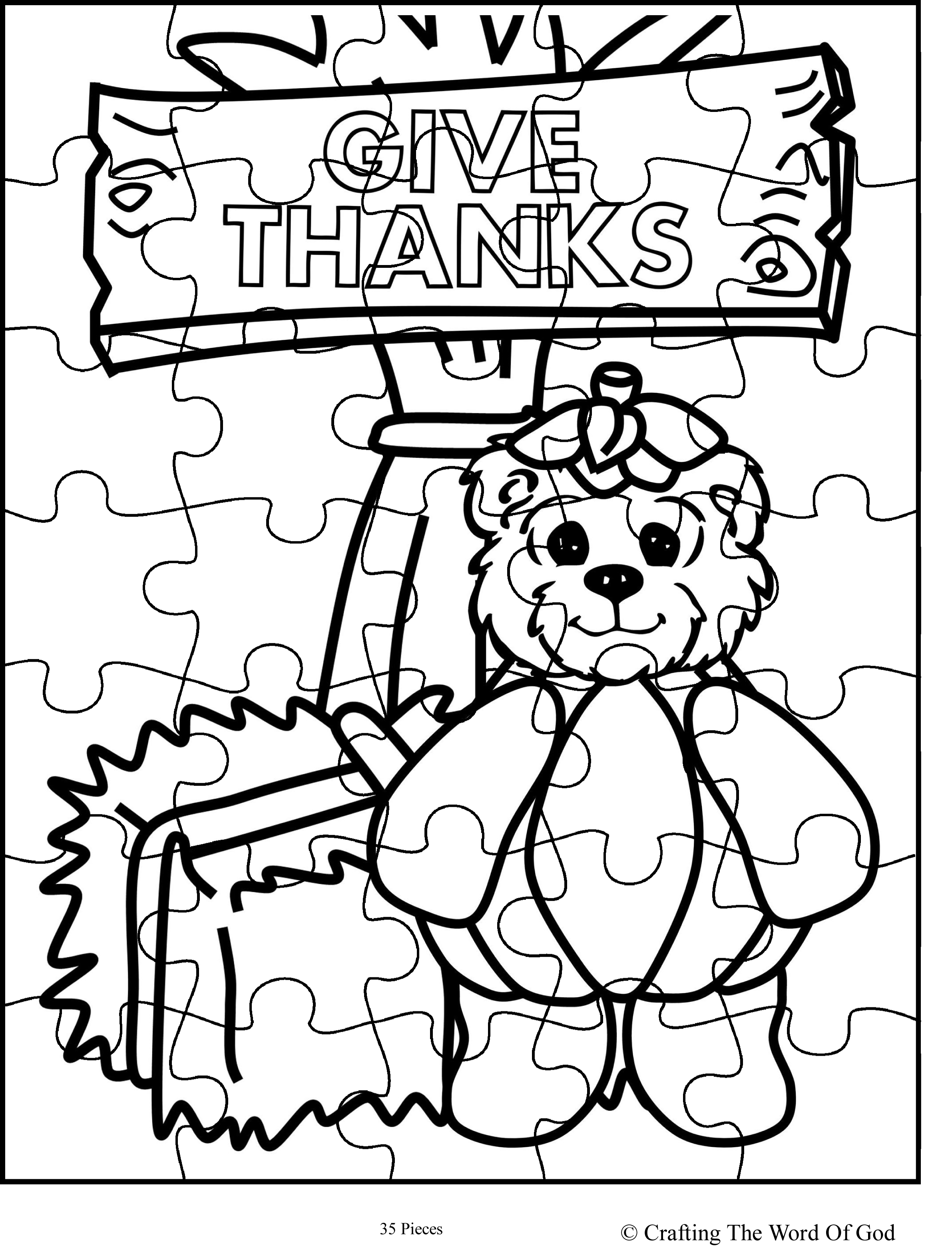 Thanksgiving Puzzle 9 Activity Sheet Crafting The Word