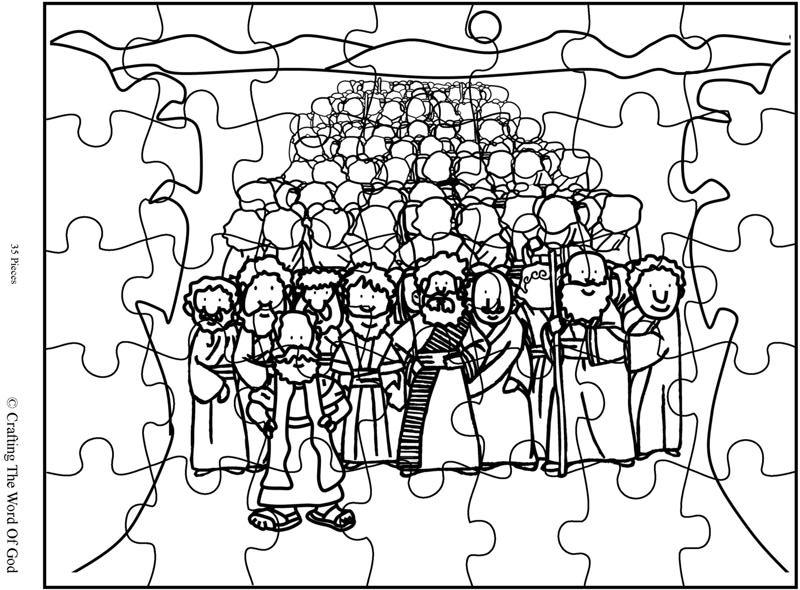 Crossing The Red Sea Puzzle- Activity Sheet « Crafting The