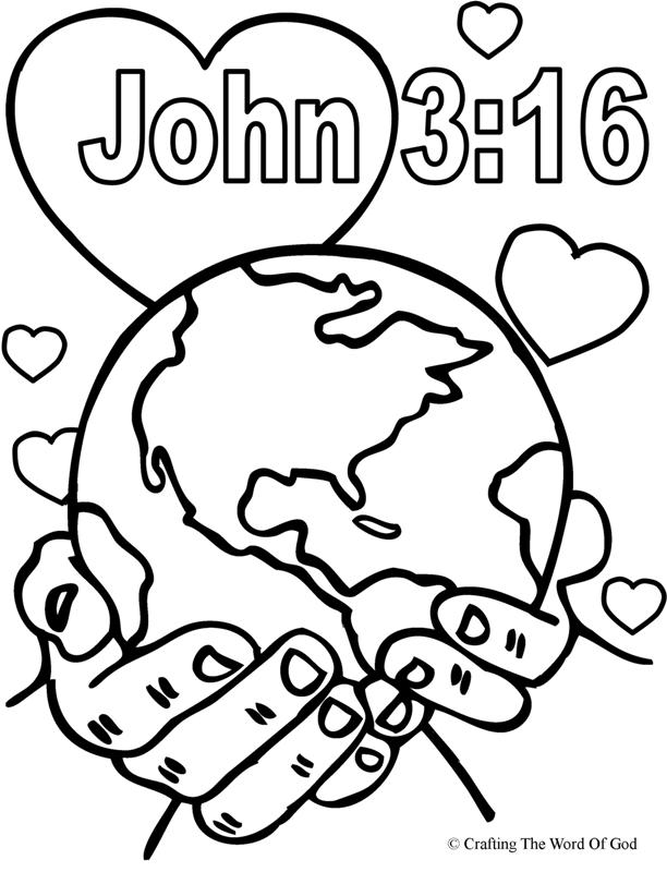 God So Loved The World- Coloring Page « Crafting The Word