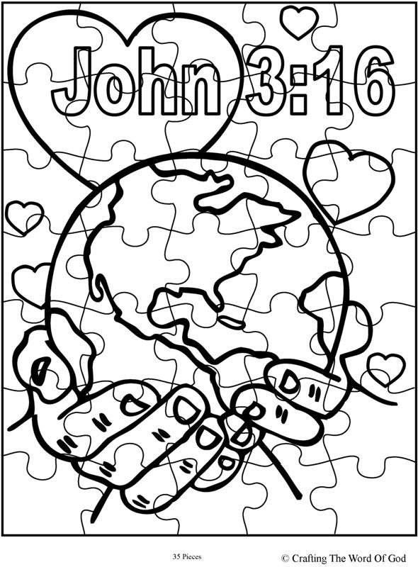 God So Loved The World Puzzle-Activity Sheet « Crafting