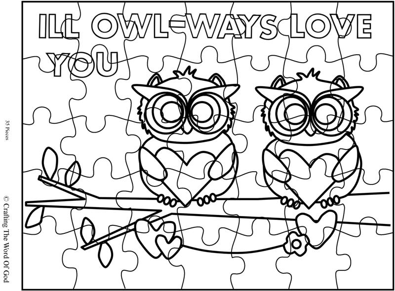 I'll Owl-ways Love You Puzzle- Activity Sheet « Crafting