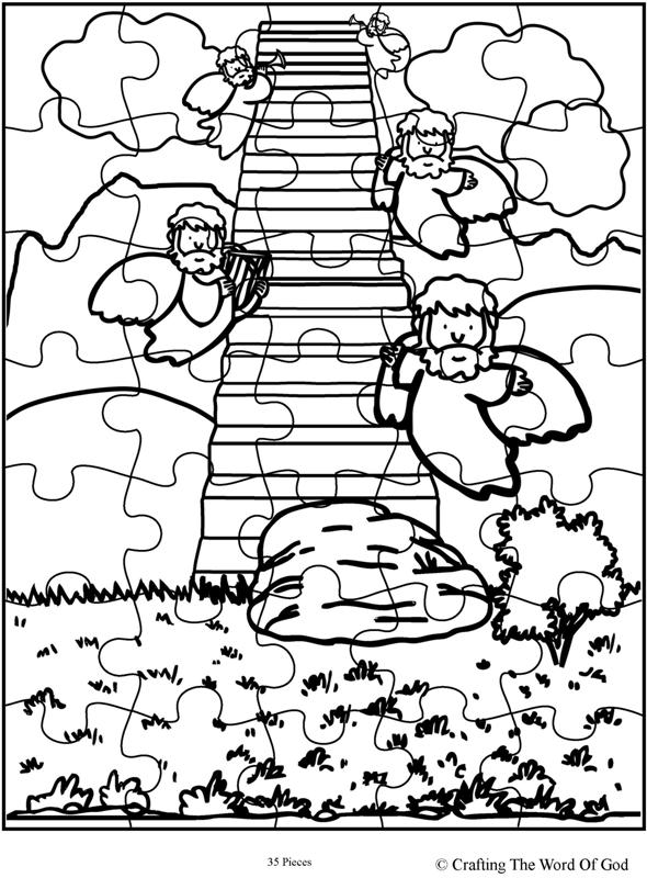 Jacob's Ladder Puzzle- Activity Sheet « Crafting The Word