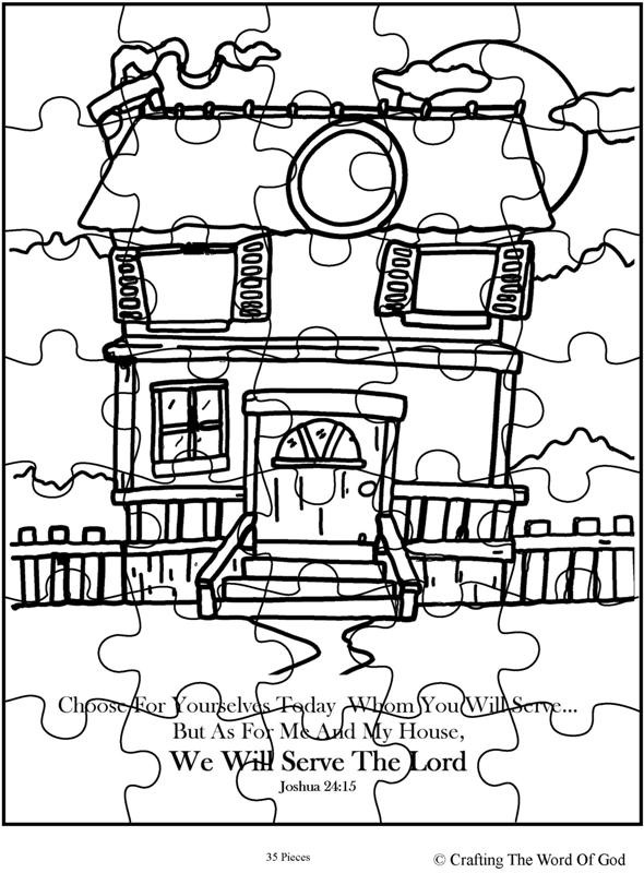 We Will Serve The Lord Puzzle- Activity Sheet « Crafting
