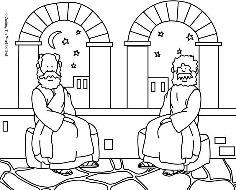 Nicodemus 1- Coloring Page « Crafting The Word Of God