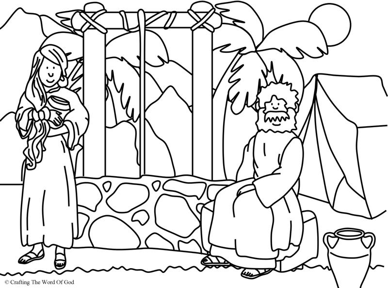Woman At The Well- Coloring Page « Crafting The Word Of God