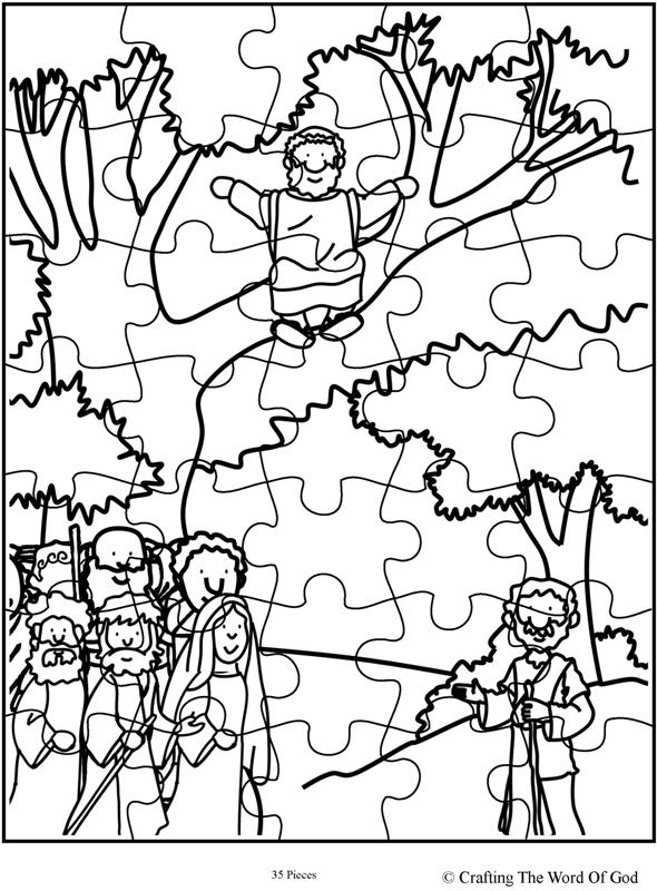 Zacchaeus Come Down Puzzle- Activity Sheet « Crafting The