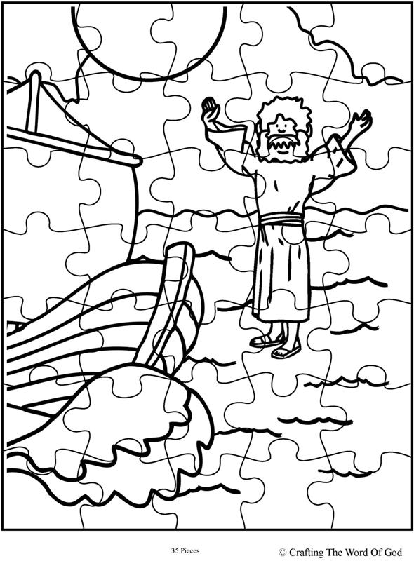 Jesus Walks On Water Puzzle- Activity Page « Crafting The