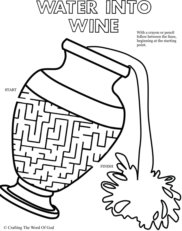 Water To Wine Puzzle- Activity Sheet « Crafting The Word