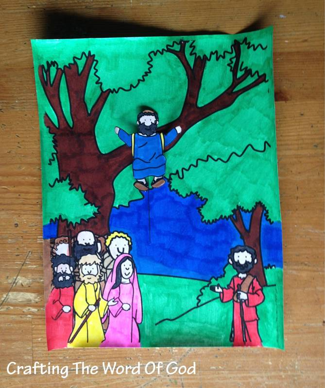 Zaccheus Come Down Crafting The Word Of God