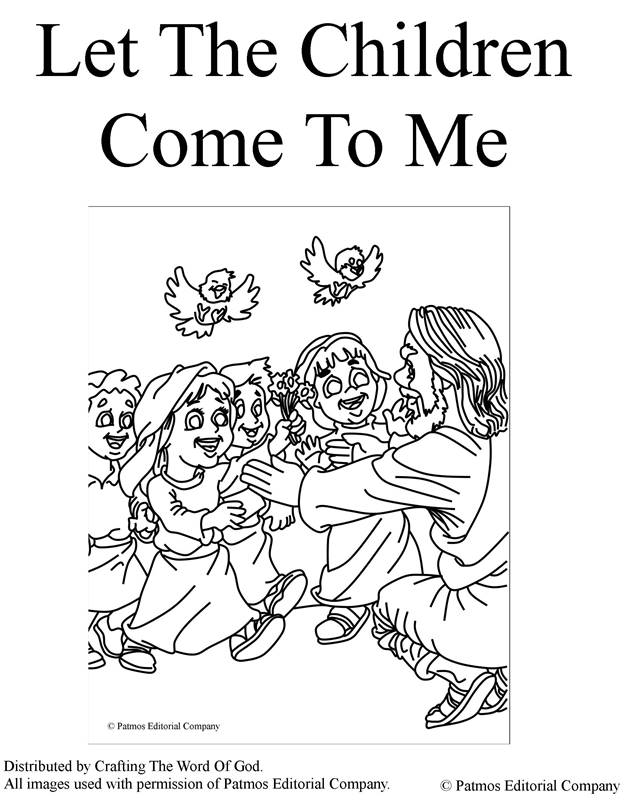 Let The Children Come To Me- Coloring Page « Crafting The