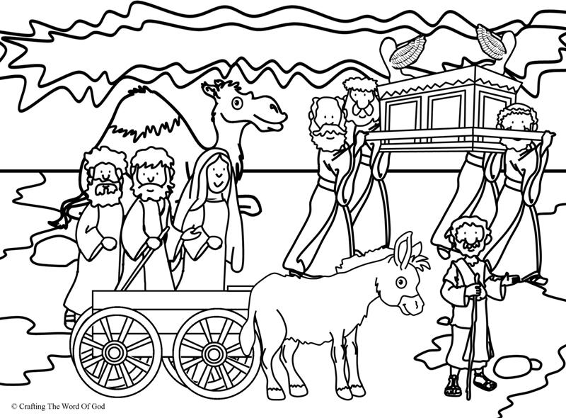 Crossing The Jordan- Coloring Page « Crafting The Word Of God