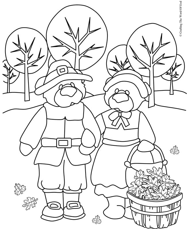 Thanksgiving Coloring Page 6- Coloring Page « Crafting The