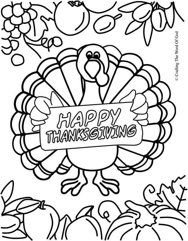 Thanksgiving Coloring Page 7- Coloring Page « Crafting The