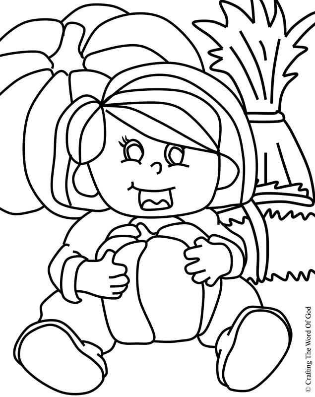 Thanksgiving Coloring Page 8- Coloring Page « Crafting The