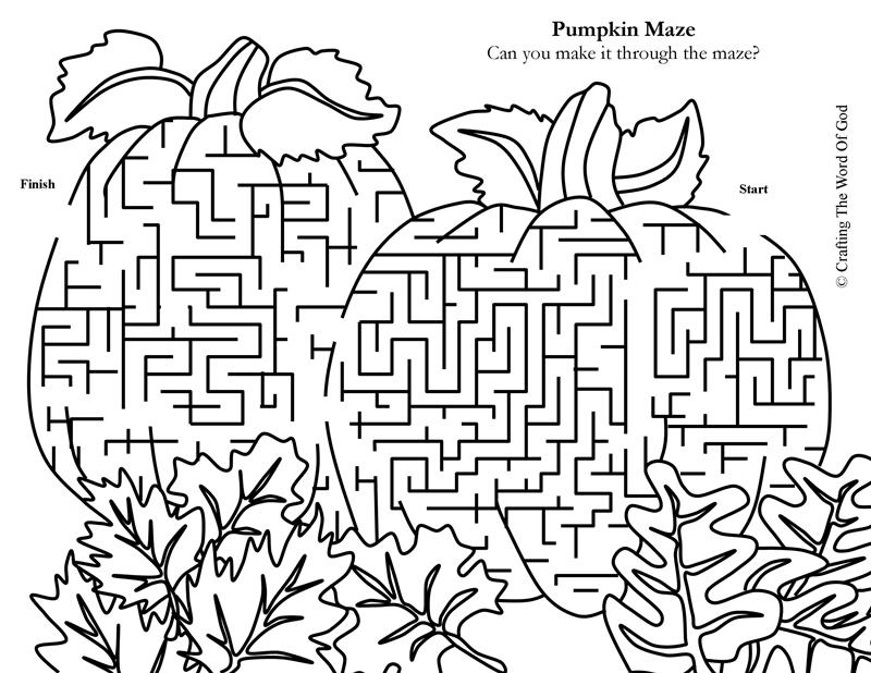 Pumpkin Maze « Crafting The Word Of God
