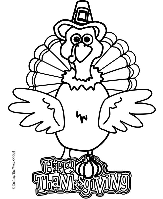 Thanksgiving Turkey Coloring Page- Coloring Page