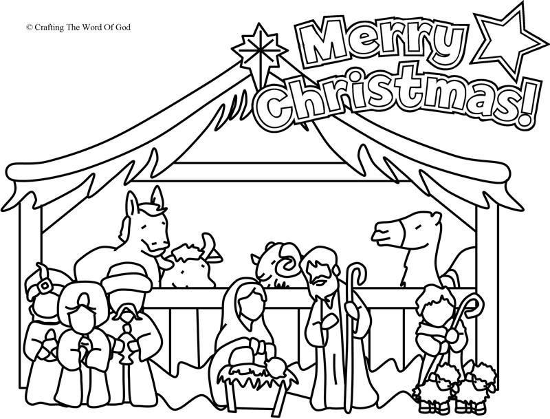 Nativity Coloring Page- Coloring Page « Crafting The Word
