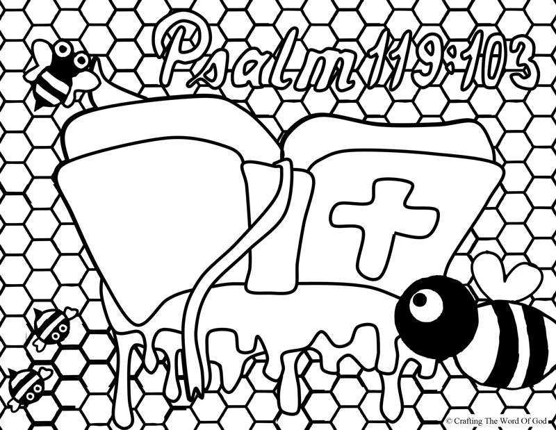 Your Word Sweeter Than Honey- Coloring Page « Crafting The