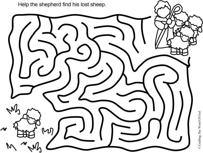 The Lost Sheep Puzzle- Activity Sheet « Crafting The Word