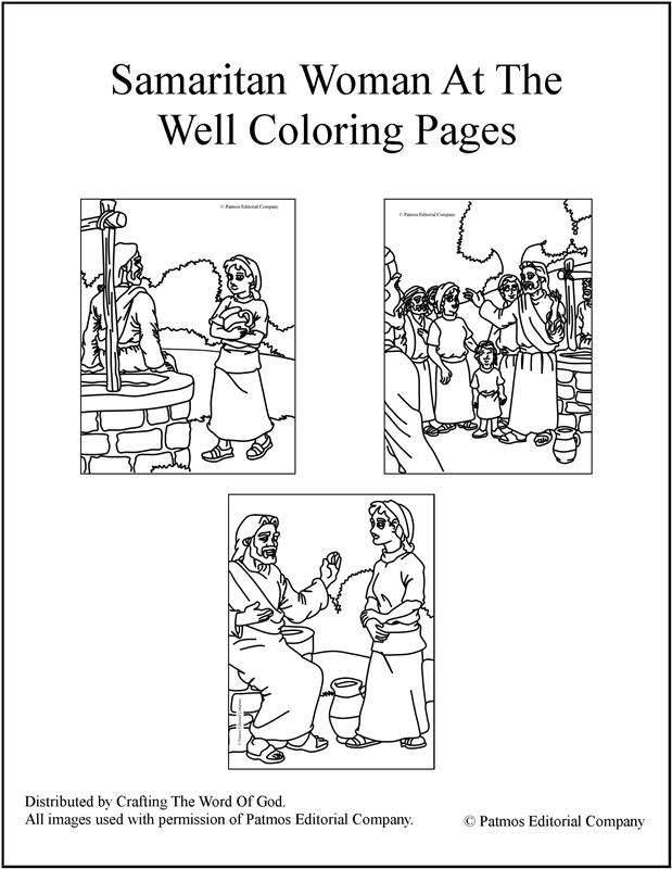 Samaritan Woman At The Well- Coloring Pages « Crafting The