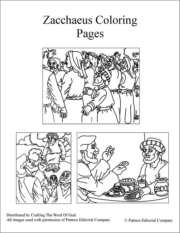 Zacchaeus Coloring Pages « Crafting The Word Of God