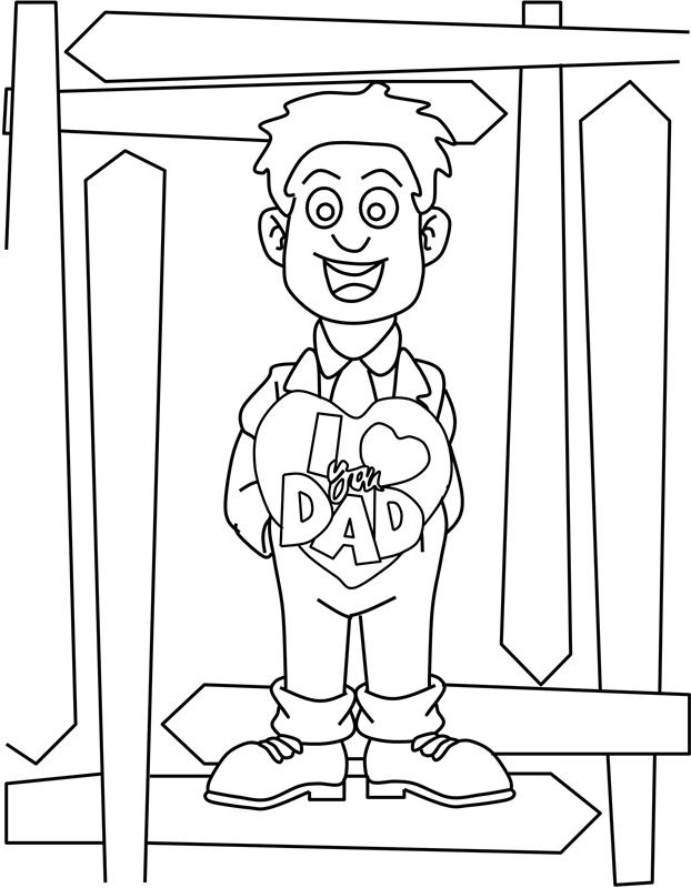 I Love You Dad- Coloring Page « Crafting The Word Of God