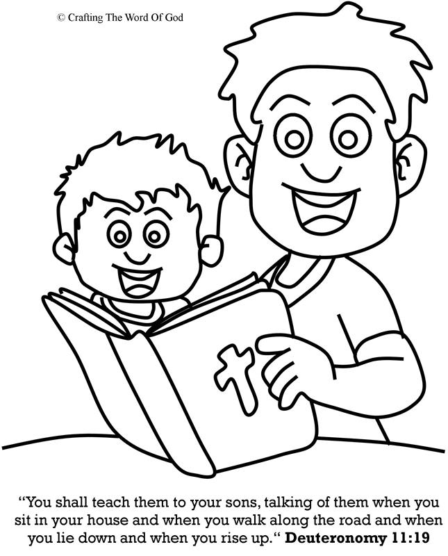 Teach Them To Your Sons- Coloring Page « Crafting The Word