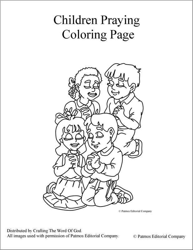 Children Praying Coloring Page Bible Sketch Coloring Page