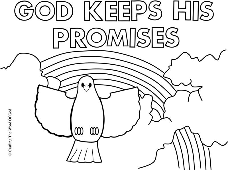 God Keeps His Promises- Coloring Page « Crafting The Word