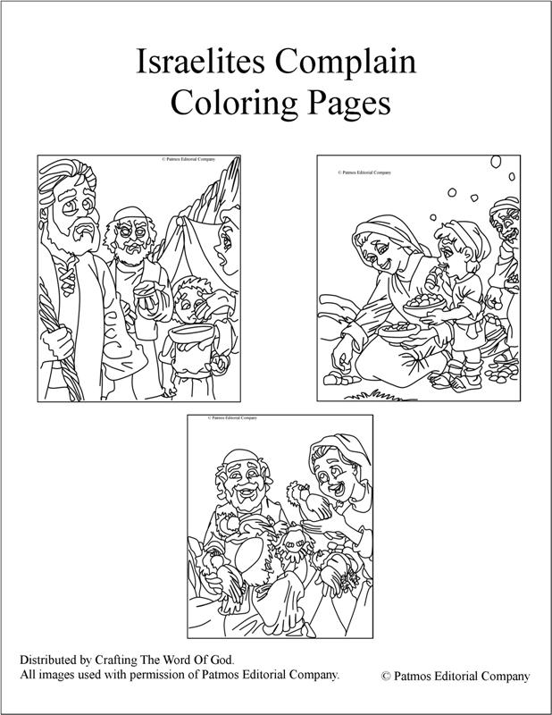 Israelites Complain- Coloring Pages « Crafting The Word Of God