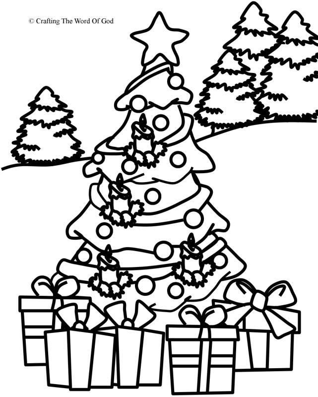 Christmas Coloring Page 1- Coloring Page « Crafting The