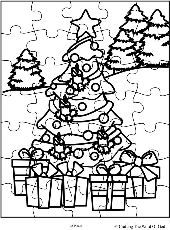 Christmas Puzzle 1- Activity Page « Crafting The Word Of God