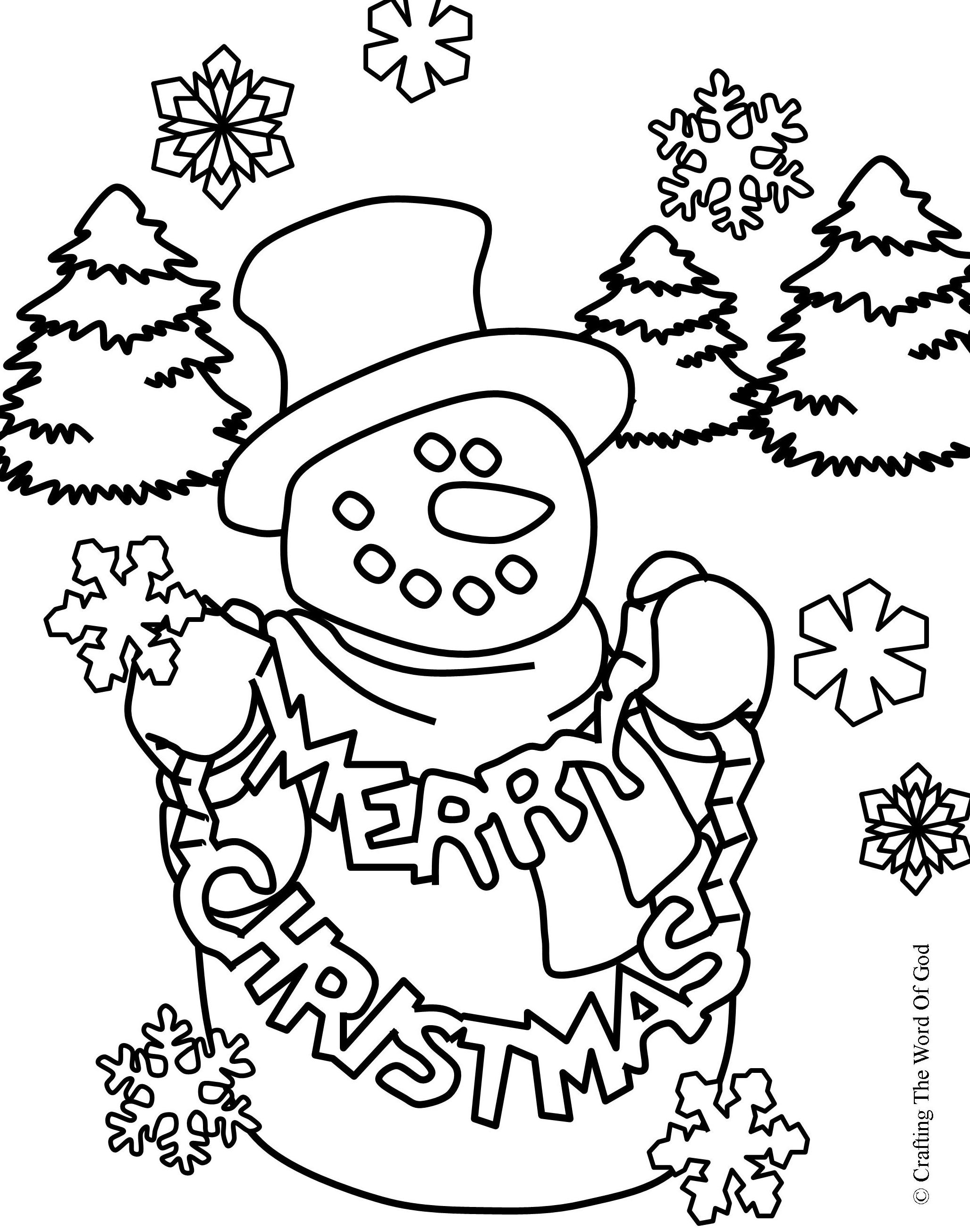 Christmas Coloring Page 2- Coloring Page « Crafting The