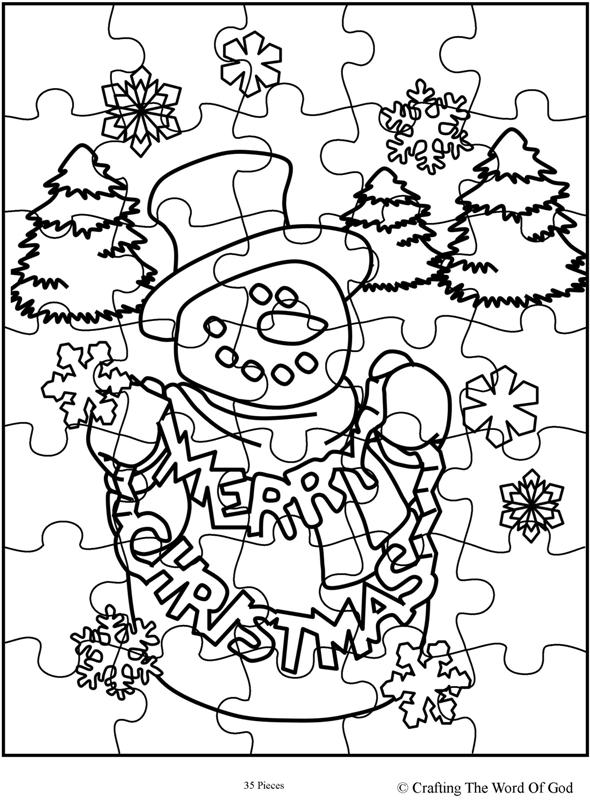 Christmas Puzzle 2- Activity Page « Crafting The Word Of God