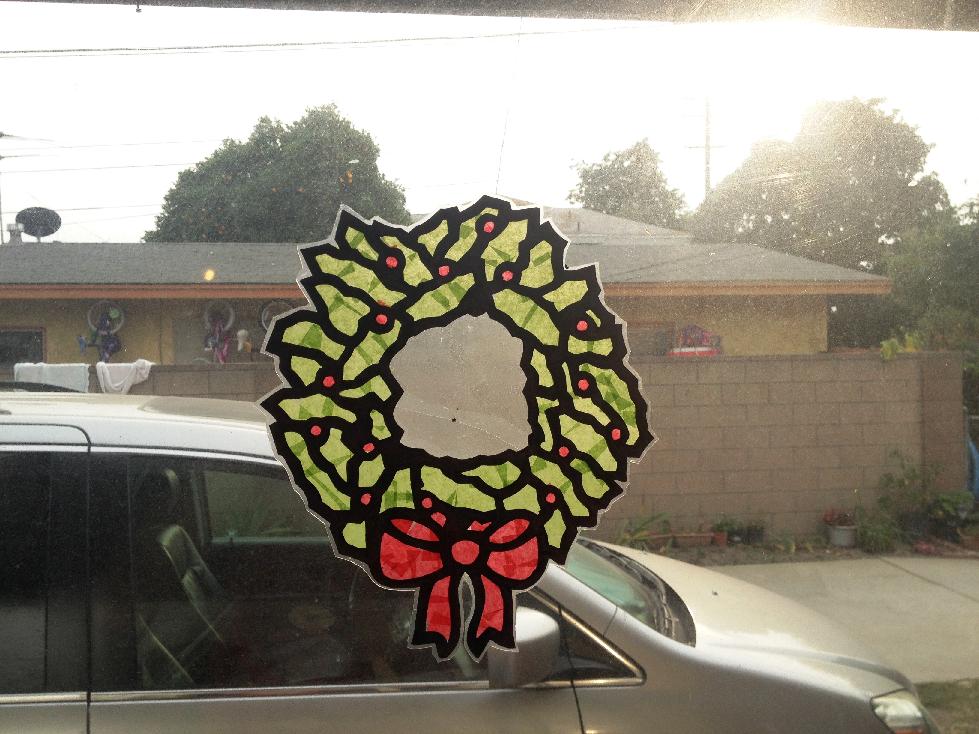 Christmas Wreath Sun Catcher Crafting The Word Of God