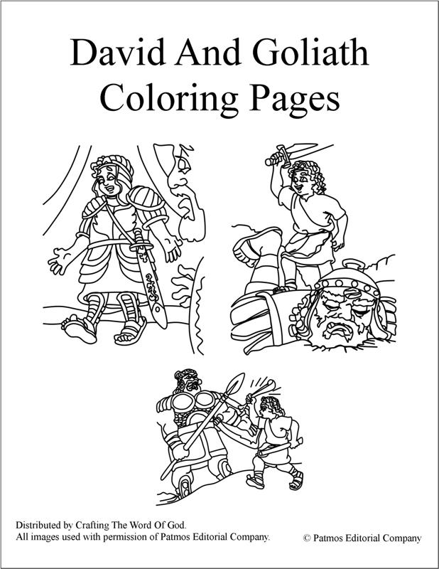 David And Goliath- Coloring Pages « Crafting The Word Of God