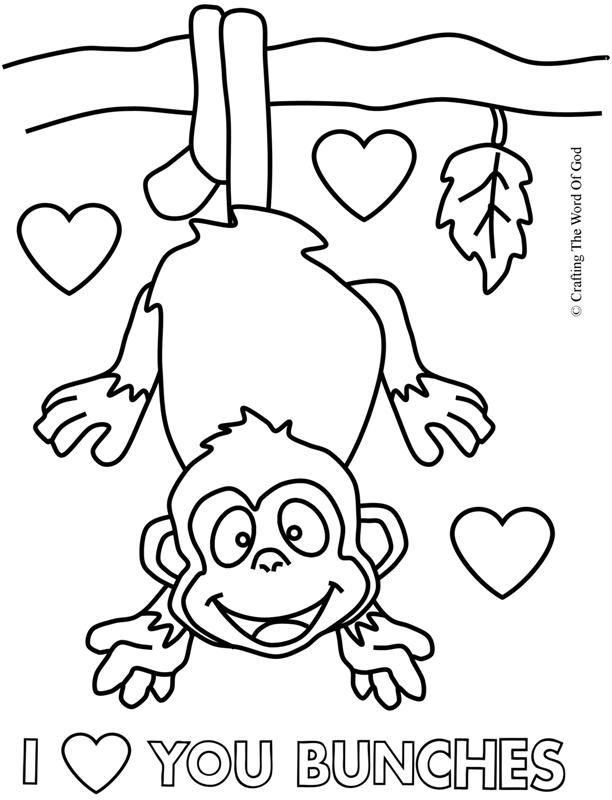 I Love You Bunches- Coloring Page « Crafting The Word Of God