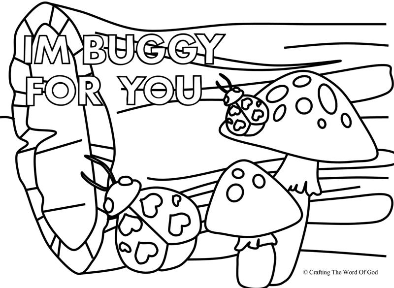 Im Buggy For You 2- Coloring Page « Crafting The Word Of God