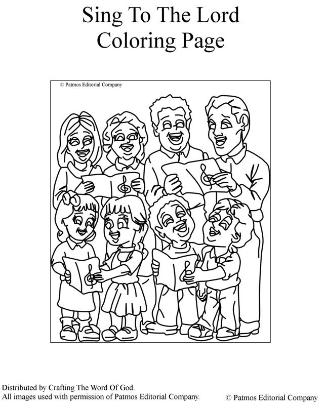 Sing To The Lord- Coloring Page « Crafting The Word Of God