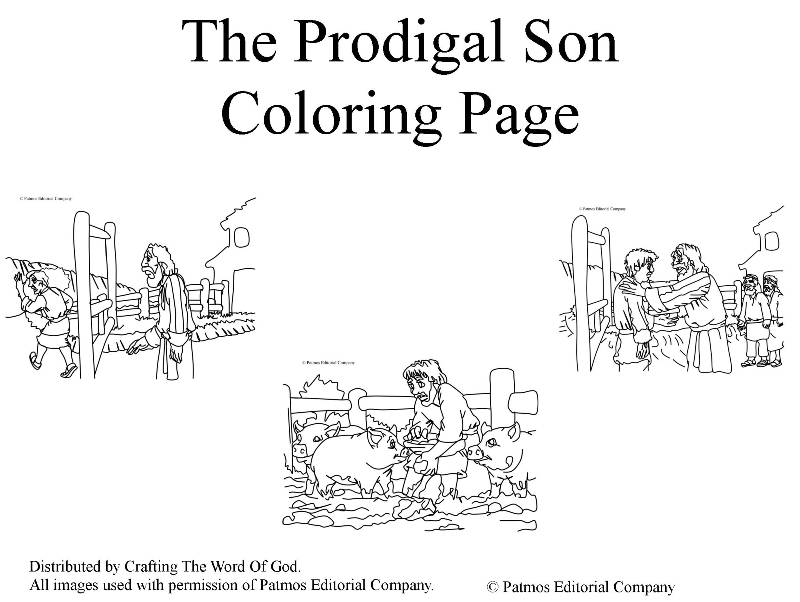 The Prodigal Son- Coloring Pages « Crafting The Word Of God