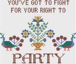 In your face cross stitch from Hoop & Needle