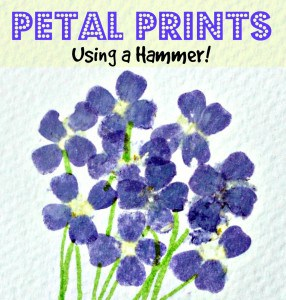 hammered flower prints - title