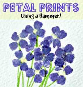 hammered flower prints - title